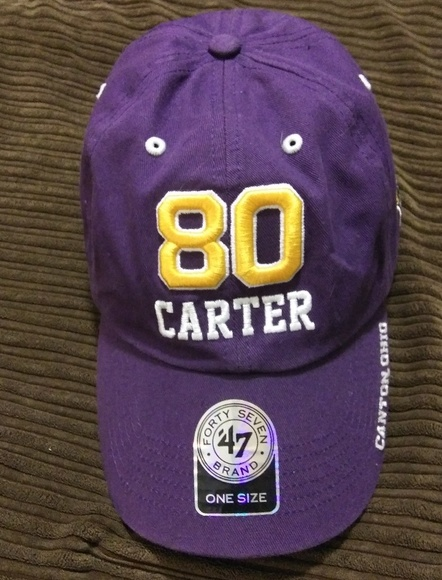 a560f703e7b5b8 Forty Seven Brand Accessories | Viking Cris Carter Hall Of Fame Hat ...
